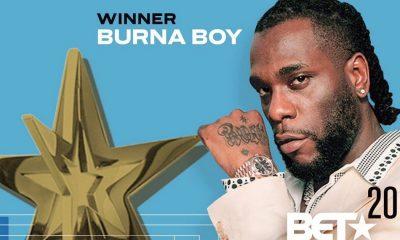 Burna Boy record first African artiste BET Awards