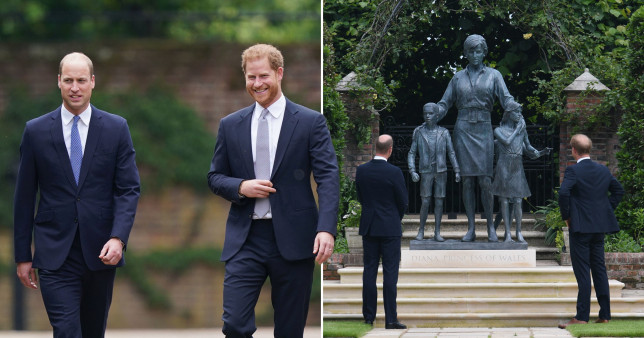 Harry and William commissioned statue Diana's 60th birthday