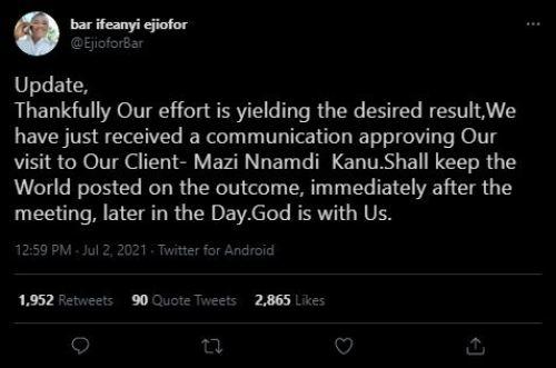 Ifeanyi Ejiofor tweets