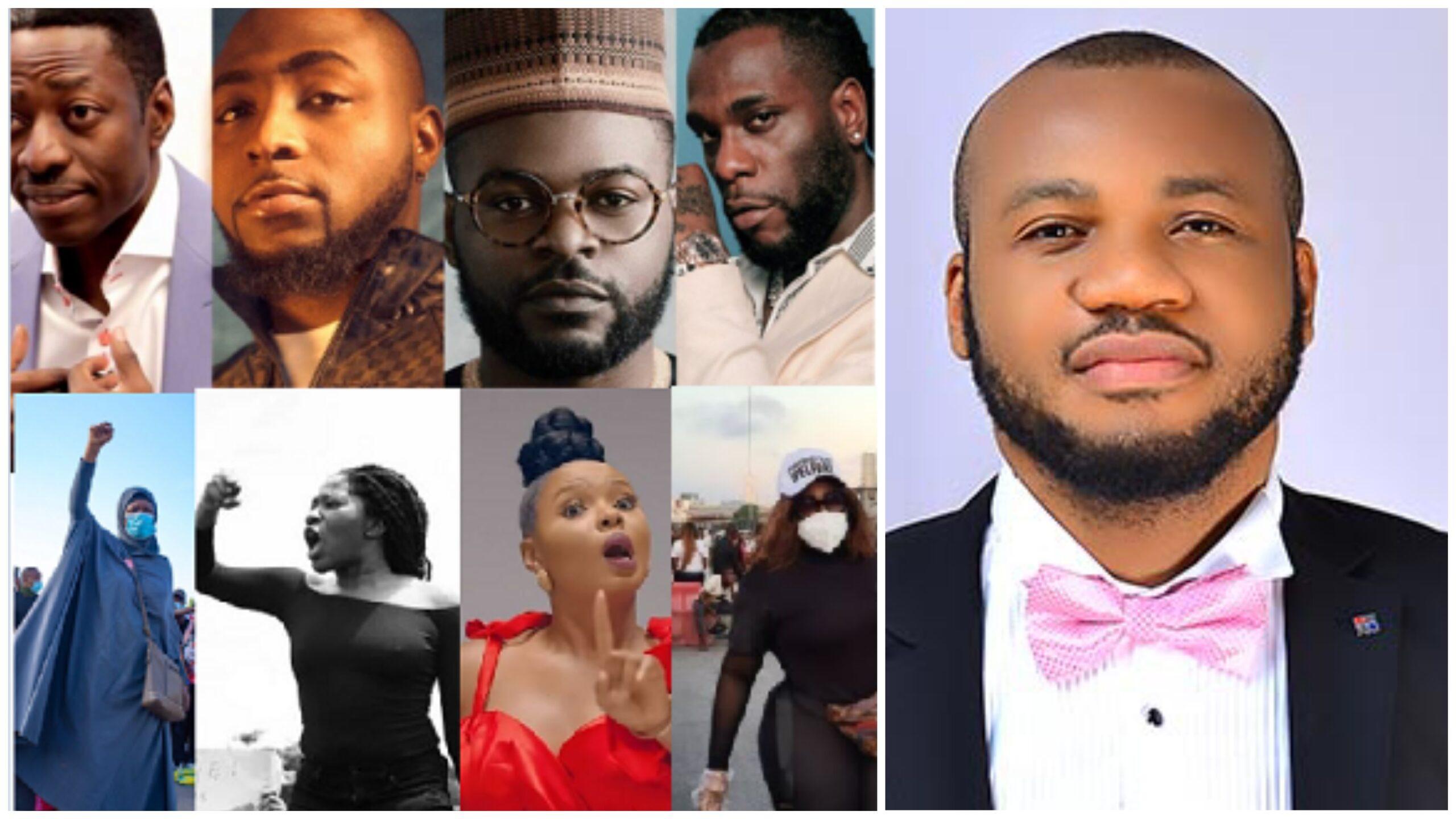 #EndSARS: Court dismisses motion against Sam Adeyemi, Falz, 2face, 47 other celebrities