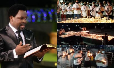 TB Joshua: Fire guts SCOAN building during candlelight procession