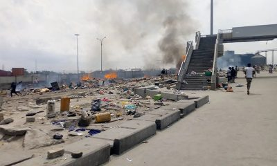 Agbero fights police-soldiers- LASTMA at Apapa Lagos