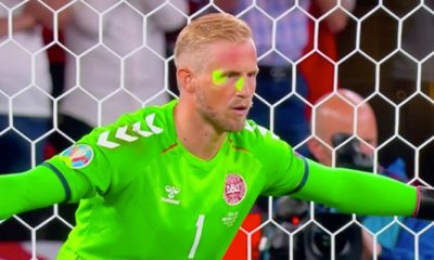 Euro 2020: UEFA fines England €30,000 over 'laser pointer' attack on Schmeichel