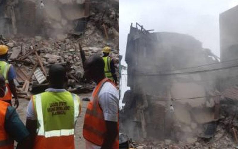 Demolished building on Lagos Island