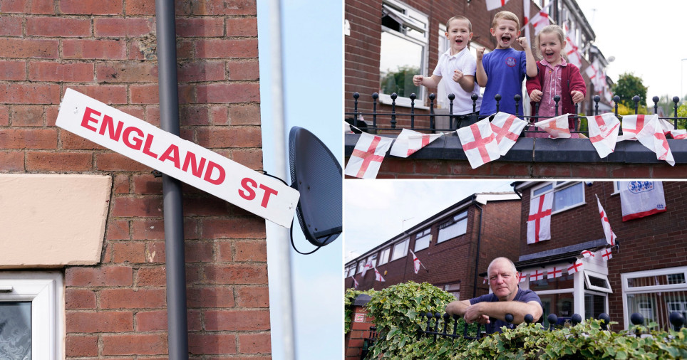 Fans rename road to England Street ahead of EURO 2020 final
