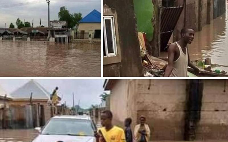 Flood destroys houses in Taraba