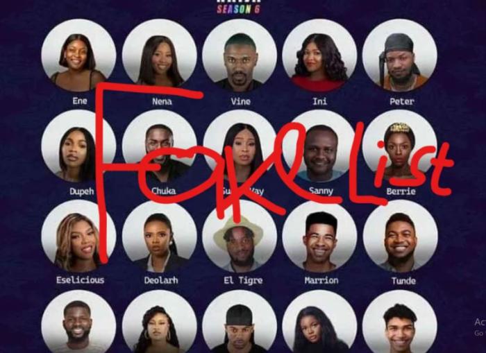 'Official list not released', BBNaija denounces fake Season 6 Housemate list