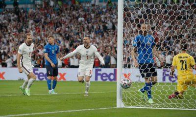 Luke Shaw scores fasted EUROs goal