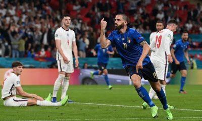 Bonucci equalises for Italy against England in EURO 2020 final