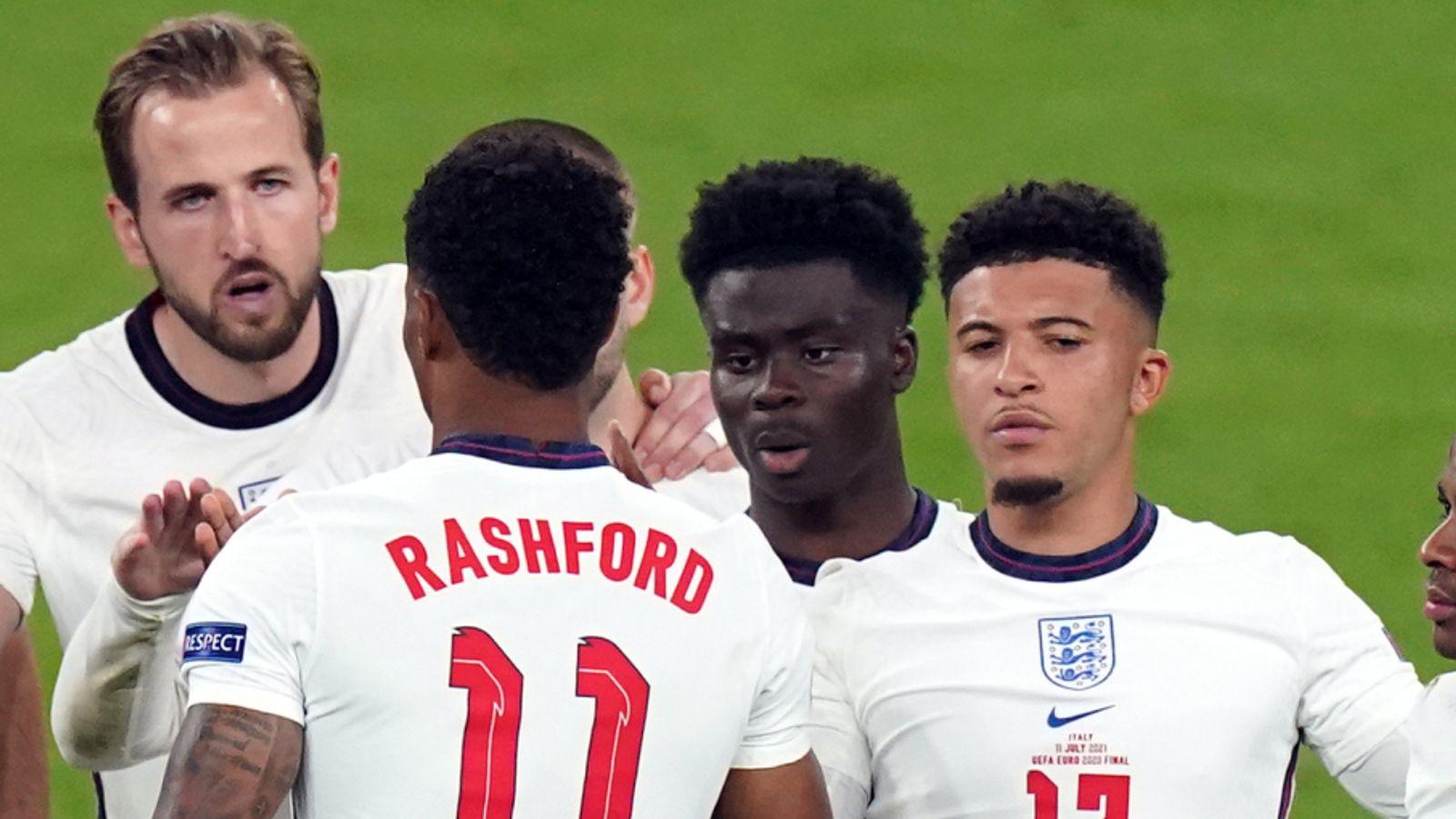 Saka Sancho Rashford racial abuse EURO 2020 final