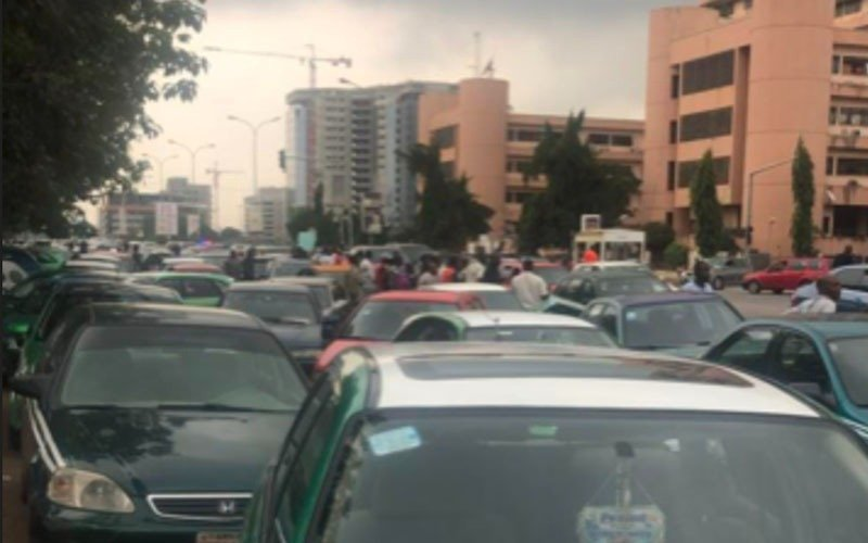 Taxi drviers protest illegal VIO fees in Abuja