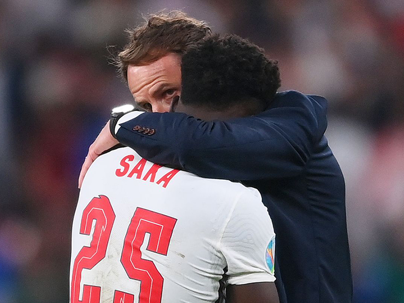 Saka reacts to online abuse after EURO 2020 Final