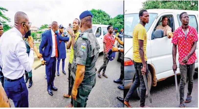 Sanwo-Olu's convoy nabs two hoodlums operating in Lagos traffic