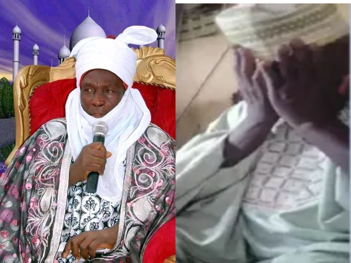 Emir of Kajuru in tears