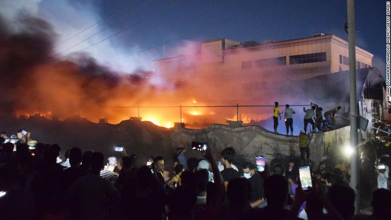 Covid-19 hospital in Baghdad razed by fire