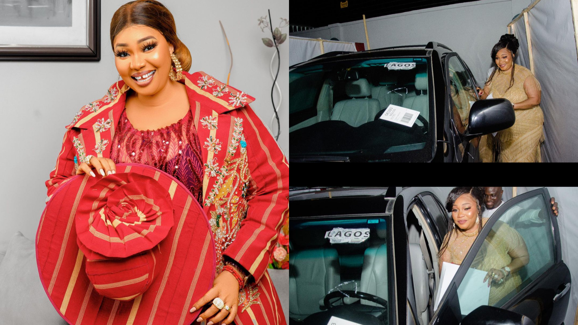 PHOTO: Real estate firm presents Jaiye Kuti brand new car as birthday gift