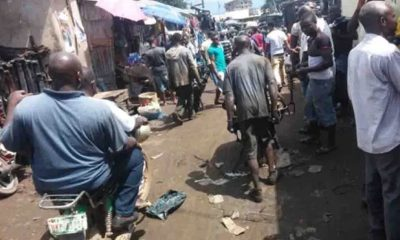 Ladipo Market, Lagos where hoodlums are reportedly fighting with airmen