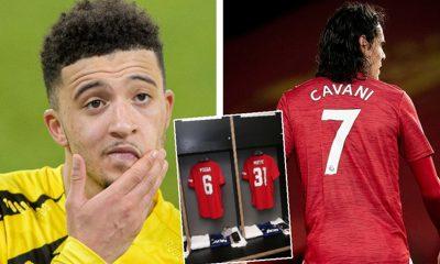 Sancho Cavani Jersey number