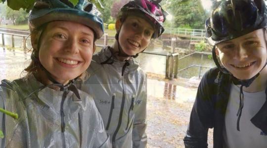 Rachel, Isobel and Andrew Jobson