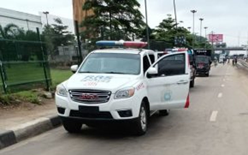 The Lagos State Police Command mounts heavy security at the Gani Fawehinmi Park, Ojota, to stop the Yoruba Nation agitators from holding rally