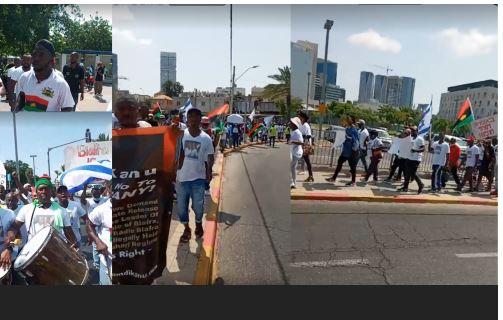 'Free Nnamdi Kanu' demonstrators storm British Embassy in Israel