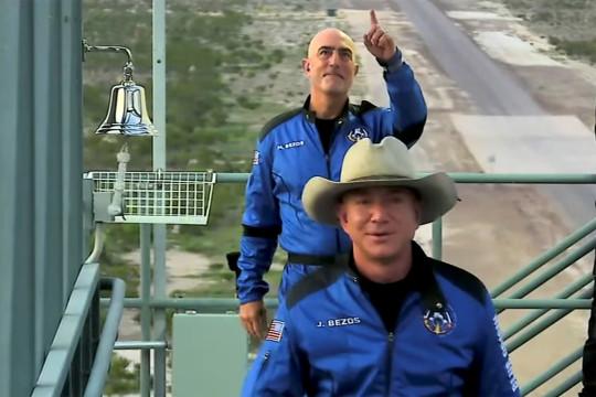 Jeff and Mark Bezos