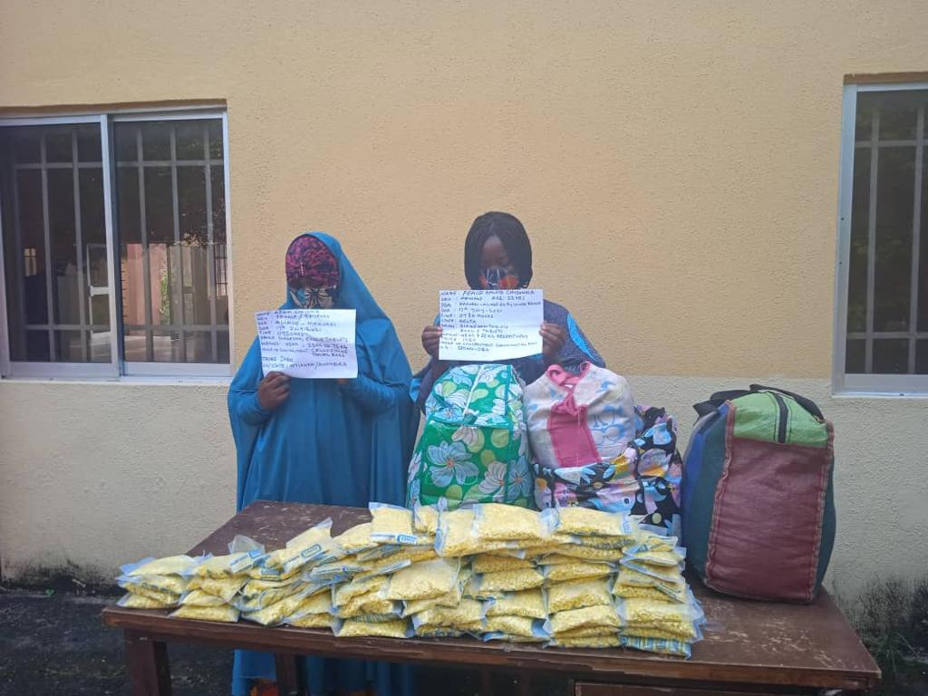 NDLEA arrests two hijab-wearing traffickers for shipping 296,000 illicit drugs