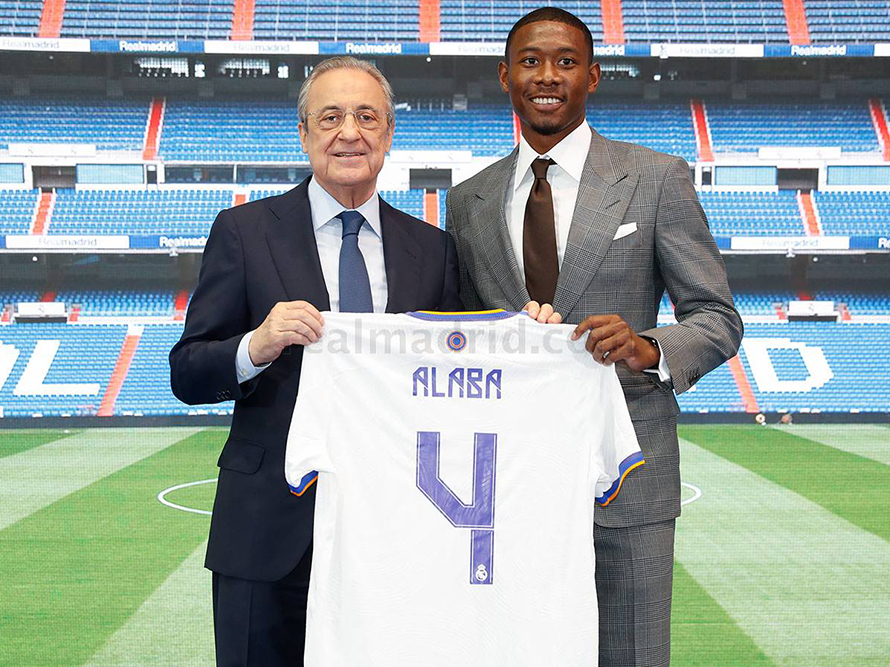 Alaba accepts Ramos' shirt number