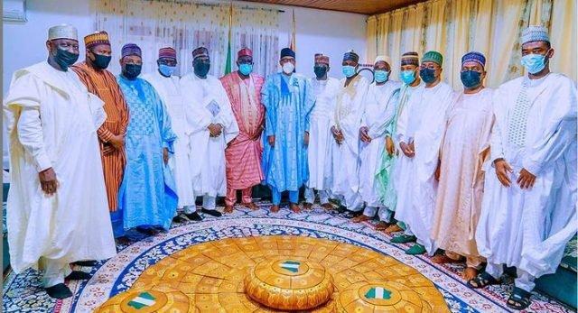 Buhari hosts Gbajabiamila, 10 governors in Daura