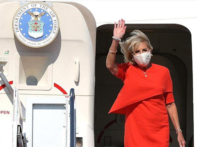 Jill Biden arrives Tokyo with US delegate