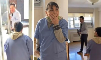 Maid overwhelmed as she's gifted four-bedroom apartment after 20 years of cleaning