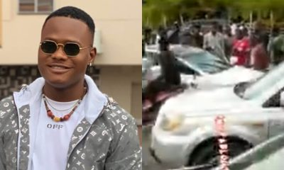 VIDEO: Comedian Oluwadolarz involved in ghastly car accident