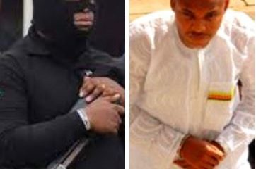 Nnamdi Kanu: DSS deploys masked operatives with motorbikes to Abuja High Court for Monday trial