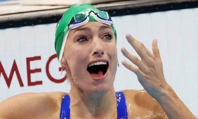 Tatjana Schoenmaker of South Africa sets a new World record