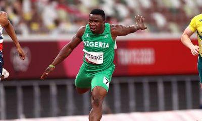 Enoch Adegoke injured at 100m finals at Olympics
