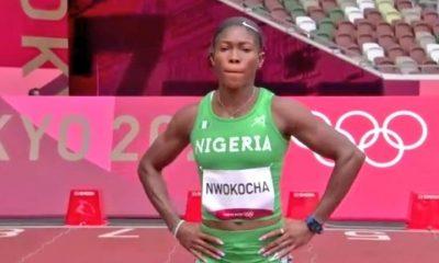 Nigeria's Nzubechi Grace Nwokocha in 200m semis
